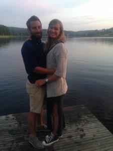 Jag och Pernilla i Sidsjön