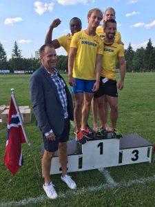 Stefan Tärnhuvud - Landslaget 4x100 m